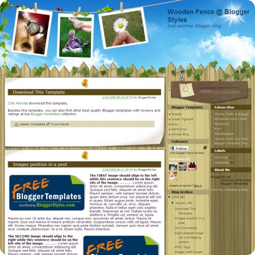 wooden-fence-blogger-template