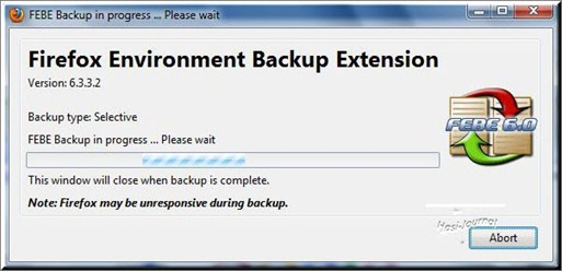 Firefox Environment Backup Extension (FEBE)