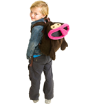 Apa som ryggsäck, Inreda