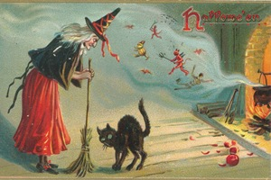 WitchCatPostcard