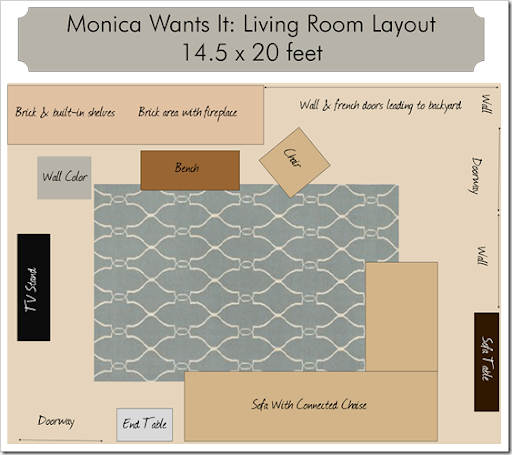 Monica Wants It: A Lifestyle Blog: Rug Sizes {Living Room}