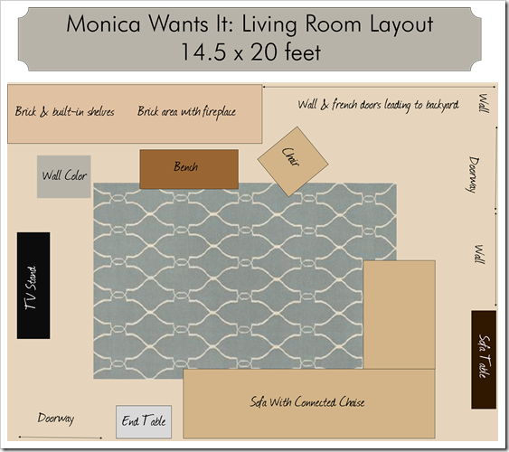 Rug sizes living room monica wants it for Area rug sizes