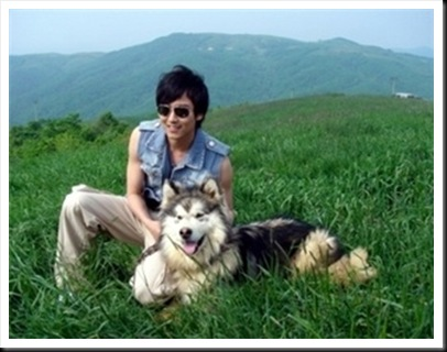 www.KimNamGil-FC.com KNG with Lovely Dog (1)
