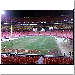 empty field after the game