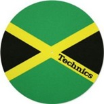 Technics Slipmat (Jamaican flag design)