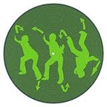 Tommy Boy Records - GREEN Logo Slipmats