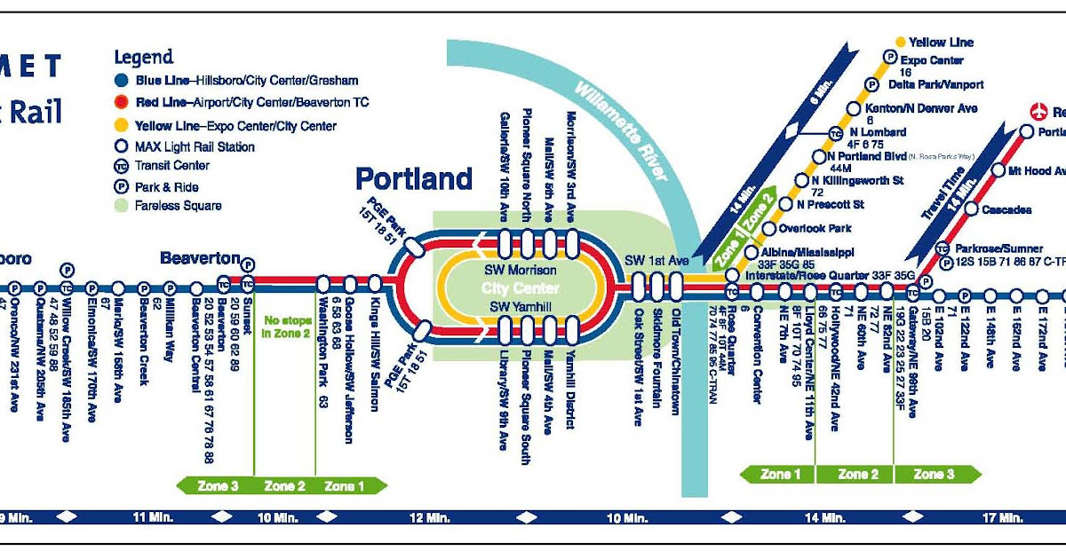 The ZehnKatzen Times The Evolution Of The TriMet MAX Map 4 Say Hi To Yellow