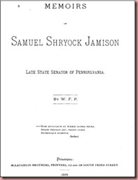 Memoirs SS Jamison inside cover