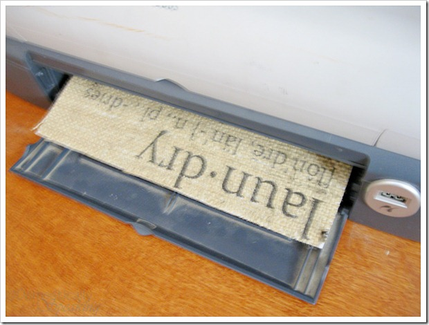 Running your burlap through your printer  HOW TO