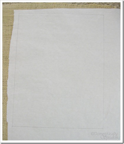Cutting out burlap and freezer paper to run through your printer
