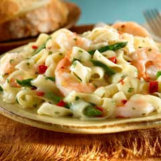 Shrimp Scampi Pasta With Vegetables