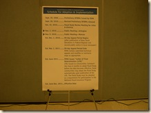 Timeline for new designations