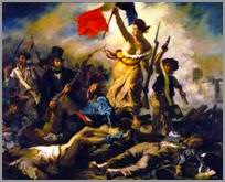 Ежен Делакруа. Свобода, що веде народ. (Свобода на барикадах). 1830. Лувр.