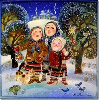 Рождественский праздник, вертеп с. Поим. На русском языке. російською