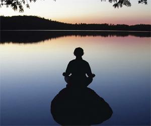 meditáció tóparton
