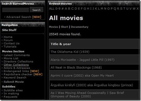 Surreal Movies Index