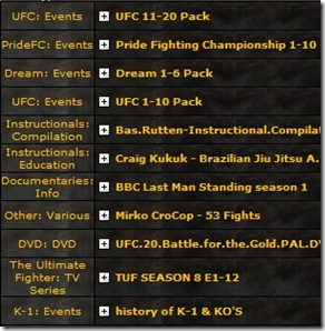 best mma torrents packs