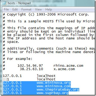 hosts file trojan infected
