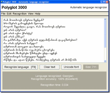 polyglot 3000 language detection