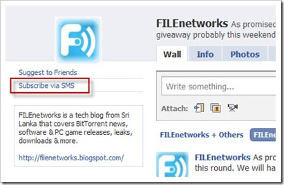 FILEnetworks SMS Updates