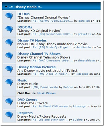 Disney media screenshot