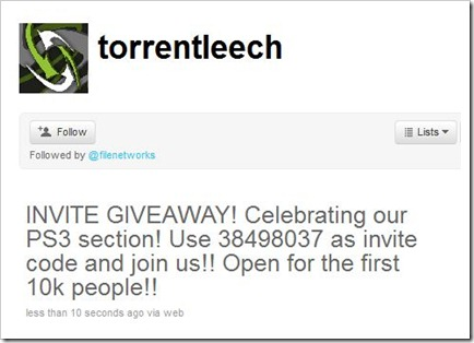 Files Network TorrentLeech Gives Away 10000 Invites To Celebrate