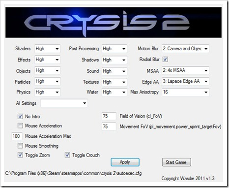 Crysis 2 Config Tool