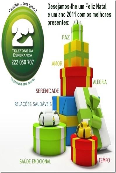 cartão festas 2010 TE