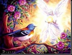 angel de los pajaros