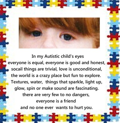 In my Autistic child's eyes