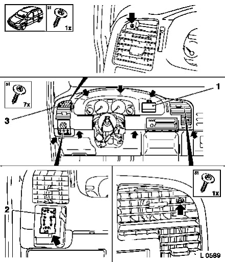 How To Zafira A Dashboard Demonteren Opel Forum