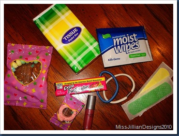 Bachelorette Survival Kit Gift Bag Ingredients