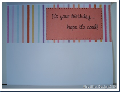 Cool Popsicle Birthday - Inside