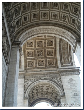 View of the inside arch of the Arc de Triomphe