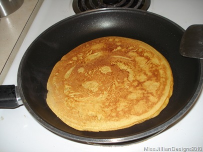 pancake on the stovetop