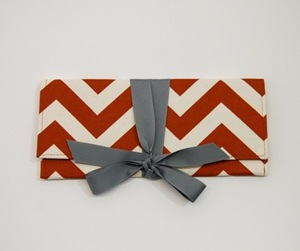 chevron clutch by {AO3} Designs