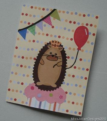 Hedgehog King birthday card
