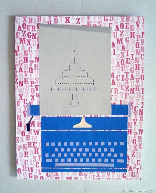Birthday Card - Typewriter Cake - Front