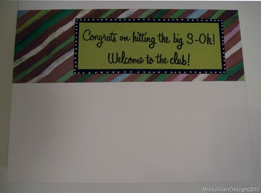 Birthday Card - Big 3-Oh - Inside
