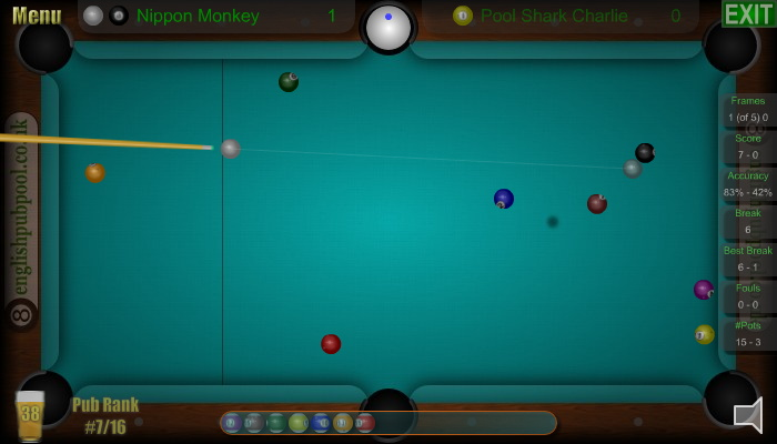 American 8-Ball Pool - 8-Ball Pool Action Shot Screen