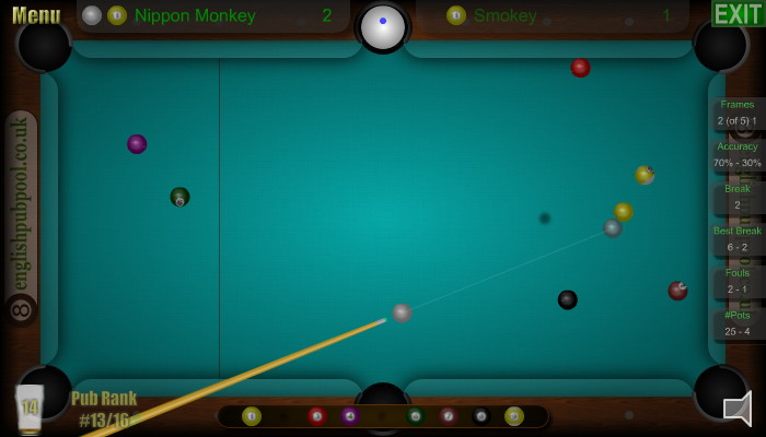 Plant Shot on 9-Ball - American 9-Ball Pool - Screen Shot
