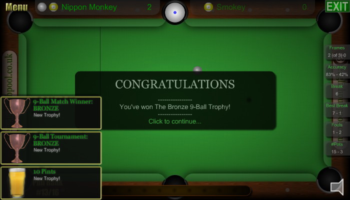 Pints - American 9-Ball Pool - Screen Shot