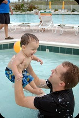 baby pool with dad-11