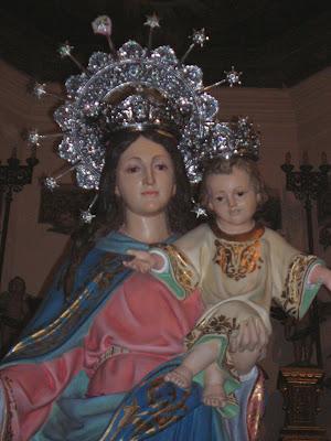La imagen de María Auxiliadora, muy venerada en Pozoblanco. Foto: Pozoblanco News, las noticias y la actualidad de Pozoblanco (Córdoba)* www.pozoblanconews.blogspot.com
