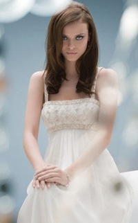 vestido de novia sencillo para esconder la panza