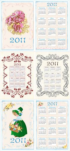Vector.2011.Calendar.Template aiovector.com Retro Lace