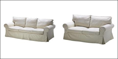 Ektorp sofa i beige-horz