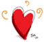 rød hjerte