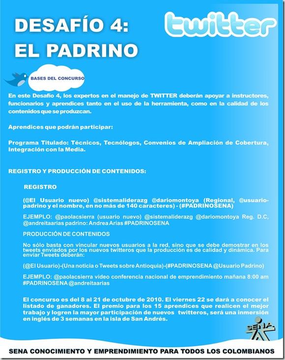 DESAFIO TWITTER El Padrino