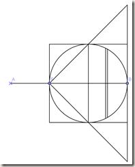 Figur som illustrerer Arkimedes metode for å finne volum av en kule